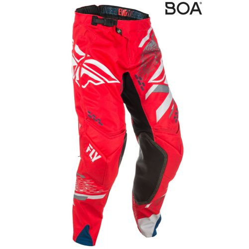 Pantalon Enfant Fly Evolution 2.0 Rouge/Blanc
