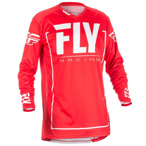 Maillot Fly Lite Hydrogen Rouge/Blanc