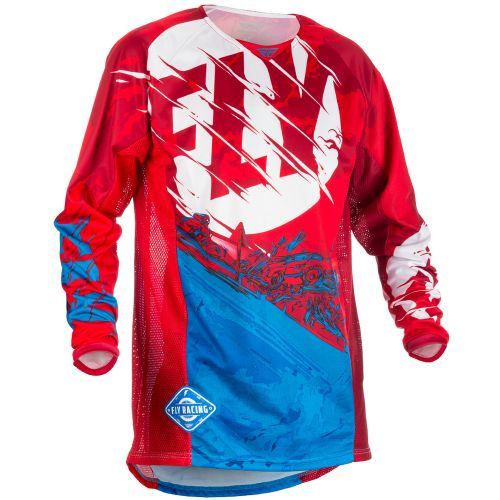 Maillot Fly Kinetic Outlaw Rouge/Blanc/Bleu