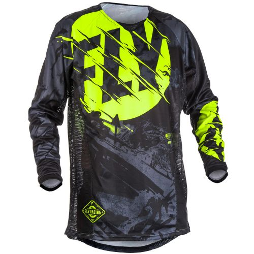 Maillot Enfant Fly Kinetic Outlaw Noir/Jaune Fluo