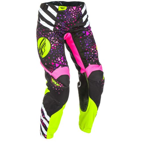 Pantalon Enfant Fly Kinetic Race Rose/Jaune Fluo
