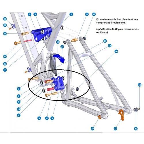 Kit Roulements De Suspension Basculeur Inférieur Mondraker Dune