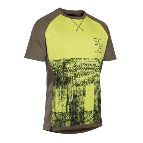 Maillot Manches Courtes Ion Scrub Amp 2018 - Brun