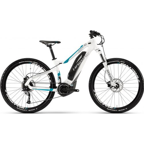 Vtt Electrique Haibike Sduro Hardlife 4.0 400Wh Blanc/Titane/Cyan 2017