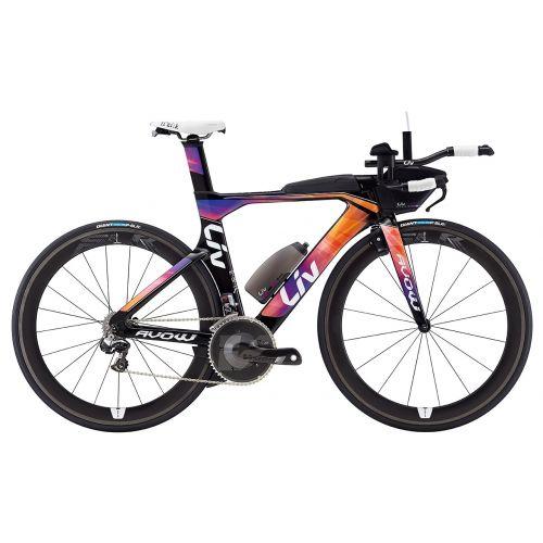 Vélo De Route Femme Liv Avow Advanced - Noir/Orange/Violet